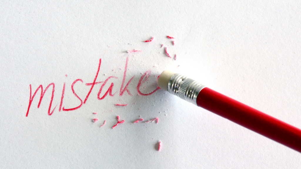 The fear of making mistakes